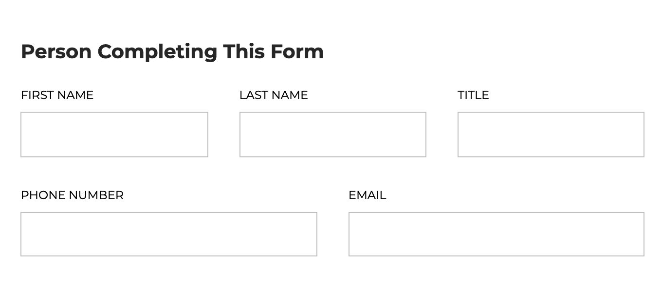 Person completing this form